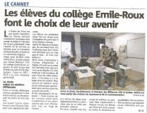 Article Nice Matin - Forum des métiers
